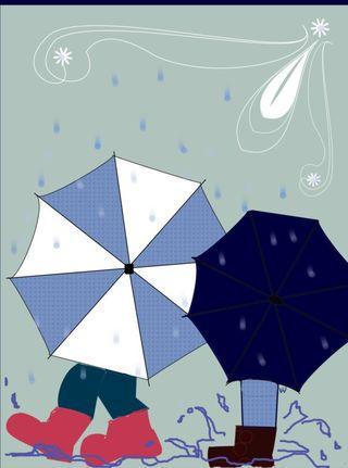 Wht petunia w layers _ crd_ wca5061 graphics for Walking umbrellas mini crp