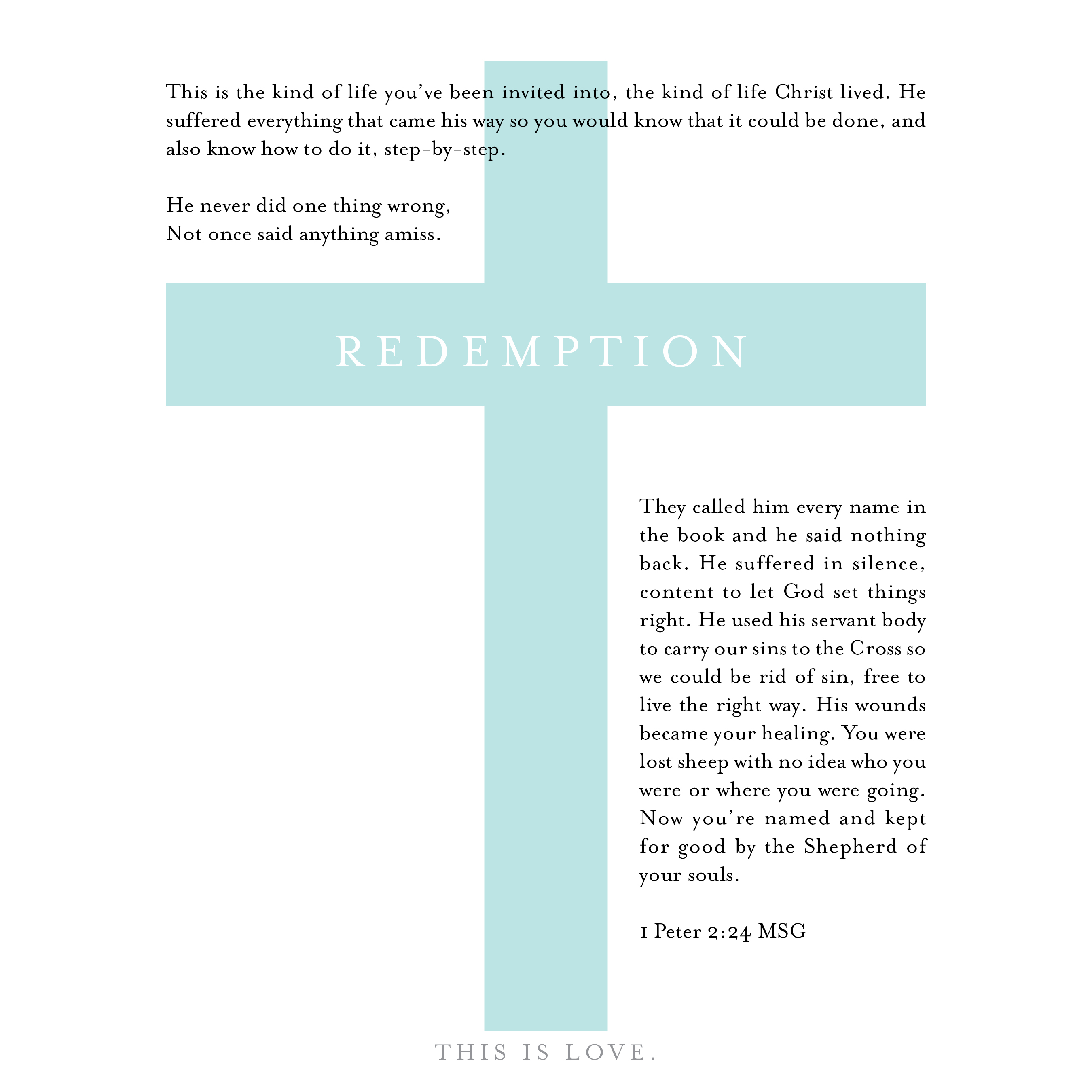 my wings are made of faith: The Cross: the greatest act of love